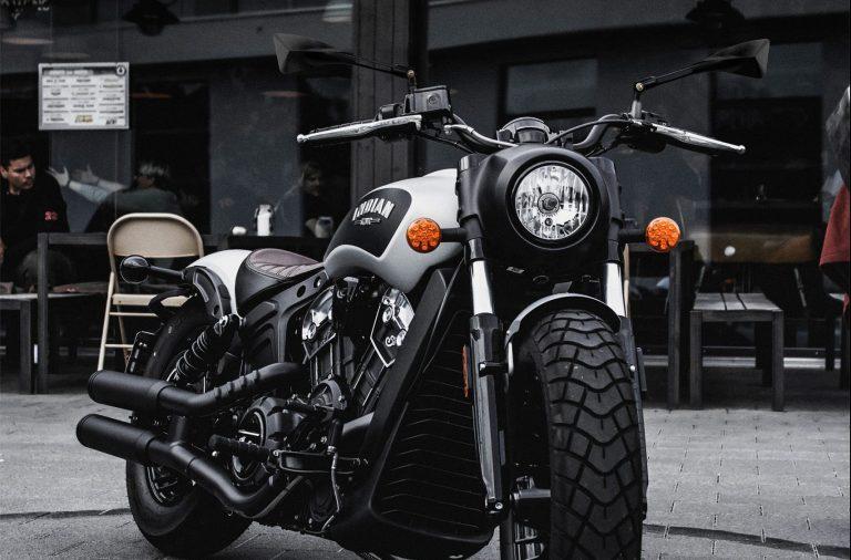 Moto indian com retrovisor tomok RT010